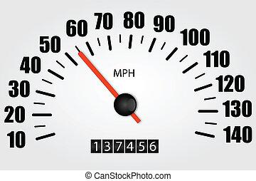 Speedometer Illustration - Speedometer illustration on a...