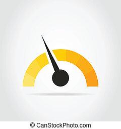 Speedometer - Arrow on a car speedometer