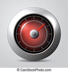 Speedometer in the car isolate. Vector illustration