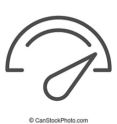 Speedometer line icon. Dashboard vector illustration ...
