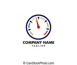 Speedometer logo icon vector illustration