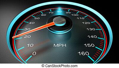 Speedometer MPH Slow