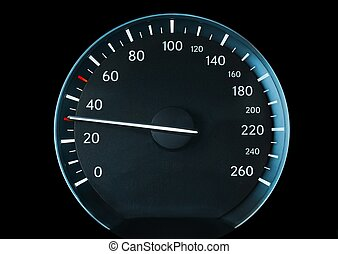 Speedometer of a car