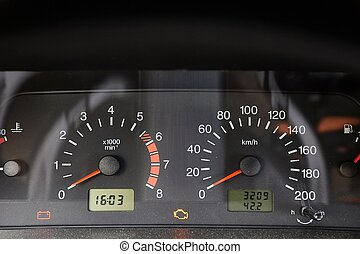 Speedometer of an old car