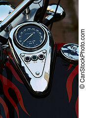 Speedometer on a motorcycle