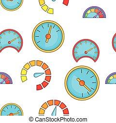Speedometer pattern, cartoon style