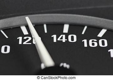 speedometer at 120 km/h