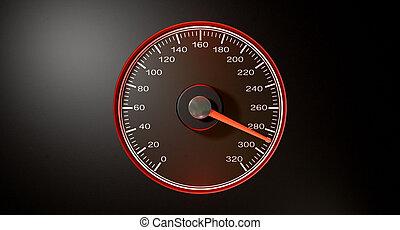 Speedometer Red Fast Speed