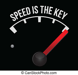 Speedometer scoring speed is the key illustration design