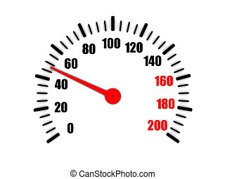 3d rendering speedometer shows fifty