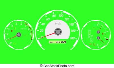 Speedometer sports car
