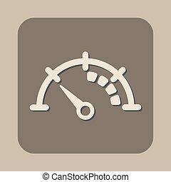 speedometer vector icon