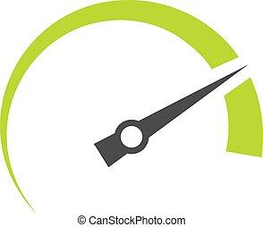 Speedometer vector symbol