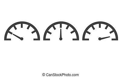 Speedometer with different levels
