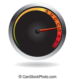 Speedometer with red needle