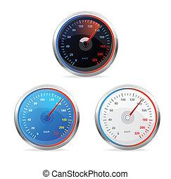 Speedometers, vector set