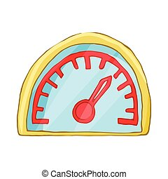 Speedometr icon, cartoon style
