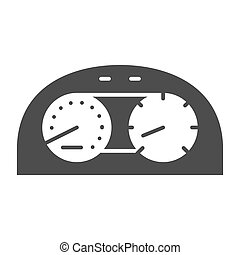 Speedometr solid icon. Car dashboard vector illustration isolated on white. Dial glyph style design, designed for web and app. Eps 10.