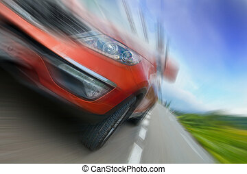 Concept of car speed