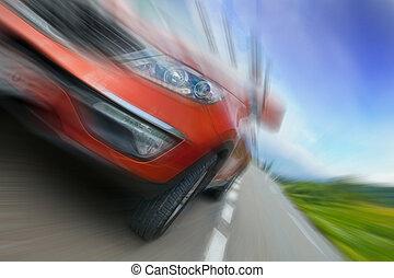 Speedy car - Concept of car speed