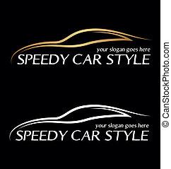 Speedy card logo.