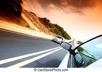 drive - speedy day drive on car