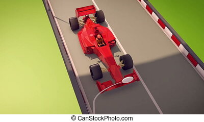 """Speedy Formula One Moves Forward"" - ""3d rendering of an..."