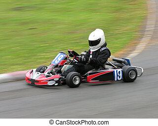 Speedy Go kart - A speeding go kart.