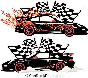 Speedy Porsche Classic Race Car.