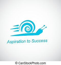 Speedy snail concept of aspiration - Speedy snail - concept...