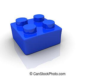 speelbal, blok, lego