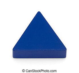 speelbal formeert, -, blauwe driehoek