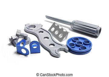 speelbal, gereedschap, plastic