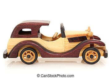 speelbal, houten auto