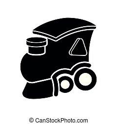 speelbal, houten, vrijstaand, trein, spotprent, pictogram