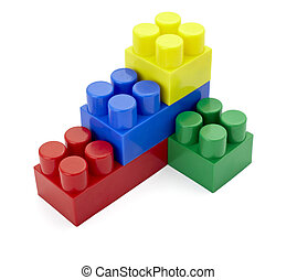 speelbal, lego, bouwsector, opleiding, kindertijd, blok