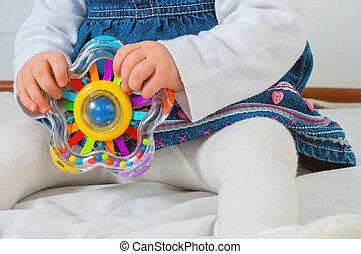 speelbal, spelend, kind