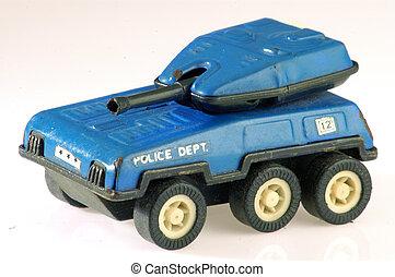 speelbal tank, politie