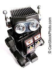 speelbal, tin, robot, oud