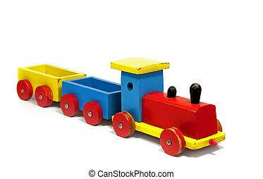 speelbal, toneelstuk, trein