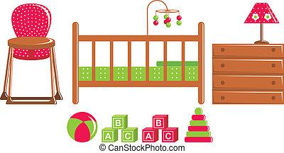 speelgoed, kinderen, meubel