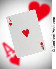 speelkaart, aas van de harten