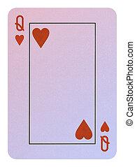 speelkaarten, hartenvrouw
