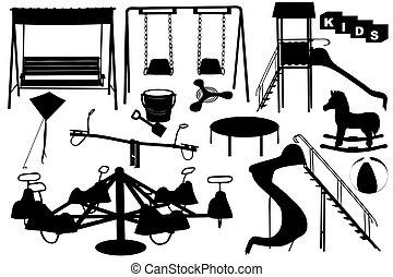 speelplaats, illustratie