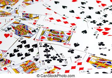 spel, casino, kaart