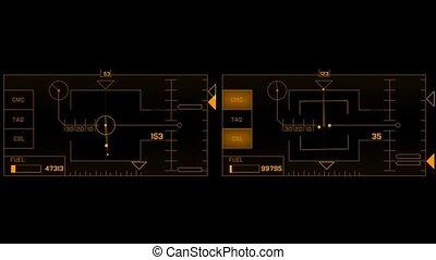 spel, computer, interface