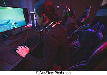 spel, computer net