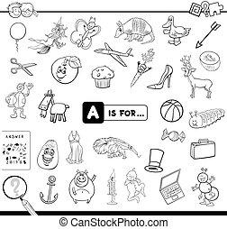 spel, onderwijs, boek, kleuren