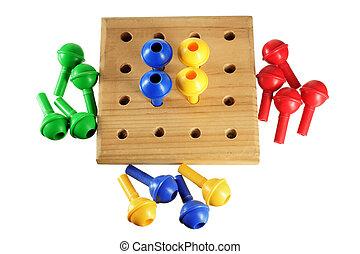 spel, pin, plank