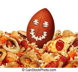 spel, snack, voetbal